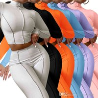 Women Knitted Tracksuits Autumn Turtleneck Crop Top High Waist Slim Pants Sport 2 Piece Sets Yoga Outfits Jogging Suit S-XXL