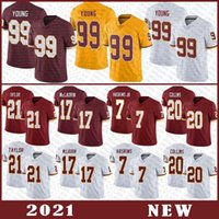 99 Chase Young Football Jersey 17 Terry Mclaurin 21 Sean Taylor 7 Dwayne Haskins 20 Landon Collins Hohe Qualität genäht Washington