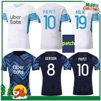 21 22 Marseille Soccer Jersey 2021 2022 Maillot Foot Cucisking Thauvin Benedetto Kamara Payet Camicie da calcio Adulto Men + Kid Kit