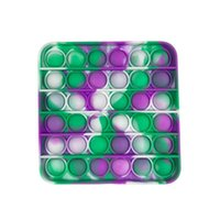 Multicolor Tie-Dye Push It Fidget Toys Sensory Push Bubble Board Game Sensory Anxiety Stress Reliever Kids Adults Autism Special Needs Sale 0001