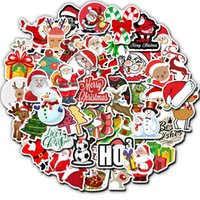 50 Christmas themed suitcase stickers Skin Protectors waterproof graffiti suitcases sticker