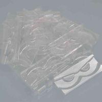 wholesale 100 pack clear lash trays plastic mink lashes holder tray for eyelash packaging box square case bulk vendors