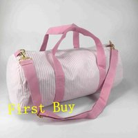 Storage Bags 30pcs lot High Quality Seersucker Duffle Monogramed Customized Travel Large Sports