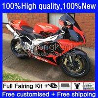 Kit de corps pour Aprilia RSV1000R Mille RV60 RSV 1000 R 1000R Glossy rouge 2003 2004 2006 2006 COWLING 9NO.77 RSV1000RR RSV1000 RSV-1000 R RR 03 04 05 06 Catériel de la moto