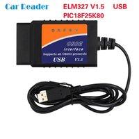 Czytniki kodu Skanowanie Narzędzia ELM327 V1.5 z PIC18F25K80 OBD2 Auto Dignostic Tool Mini OBDII adapter skanera USB