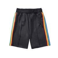 Shorts de Men's Designer Paliers de sport Pantalons de sport Loose Rainbow Sold Strips Cordon Hommes Femmes Summer Pantalons imprimés Pantalon de survêtement occasionnel Taille de l'ange S-XL