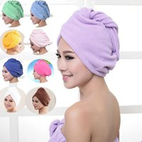 Towel Microfibre After Shower Hair Drying Wrap Womens Girls Lady's Quick Dry Hat Cap Turban Head Bathing Caps Tools