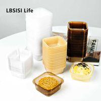 LBSISI Life Высокое Качество Лунный пластиковый лоток яичко желток четкий торт удерживает пластиковую упаковочную коробку XI SU HE Y0606