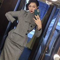 Le Palais 2021 Originale Autunno Autunno Vintage Giacca sottile a vita alta Skirt Skirt Suit Femmina Ensembles L3GW