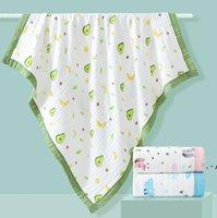 الأطفال بطانية منشفة الطفل القطن 6 طبقة الشاش حمام منشفة الرضع الكرتون الطباعة الحيوان مغطاة البطانيات 37 أنماط owb5534