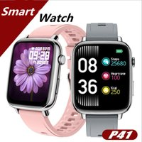P41 Bluetooth Smart Watch Men 1.69 Inch Full Touch Display Multi-Sport Mode IP68 Smartwatch Women Heart Rate Monitor For iOS Android Fitness Tracker Wearable Watches