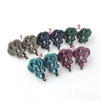 3Paes Imperial Crown STED Серьги Серьги с петли вешалка CZ Micro вымощены для DIY Женщины Ювелирные Изделия Выводы ER1044