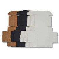 50pcs Black White Kraft Paper Folding Blank Cardboard Packaging Mini Handmade Soap DIY Craft Jewelry Gift Box