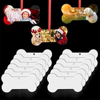 8 styles Sublimation Blank Pendants Thermal Transfer Christmas Ornaments Decorations MDF Square Snow Shape Heat Printing Tree Pendant Decors Party Supplies