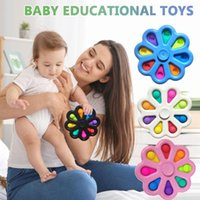 Vinger Bubble Pers Board Toy Stress Relief Speelgoed Duw Bubble Spinner Sleutelhanger Kleurrijke Simple Dimple Fingertip Toy Fidget Speelgoed