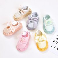 Socks 0-18M Born Kid Baby Girls Cute Sweet Cotton Non-slip Sock Shoes Lovely Bow Princess Home Accessories