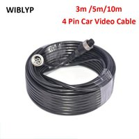 Car Rear View Cameras& Parking Sensors 4 Pin Video Cable Reversing Aviation Head Camera 3m 5m 10m Extension Wire For Truck