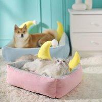 Kennels Pens Letto per cani Staccabile Casa per animali domestici Peluche Kennel Dogs Cat Letter Deep Deep Sleep Mat Cushion Cama Perro Hondenmand