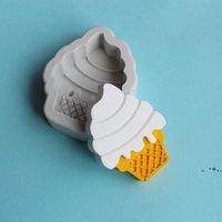 Neu3D Eiscreme Kegel Schokolade Silikonform Praline Candy Polymer Clay Formen DIY Party Kuchen Dekorieren Werkzeuge EWF7725