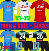 Erkekler Çocuklar 2021 2022 Insigne Napoli Futbol Forması Napoli Kitleri 21 22 Zielinski Maradona Mertens Callejon Oyuncu Koulialy Futbol Gömlek Yetişkin Çocuklar Üniforma Setleri