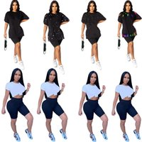 Summer clothing Women sexy t-shirt tops&tees plus size 3XL one piece sets crew neck shirts casual bigger size short sleeve 4571
