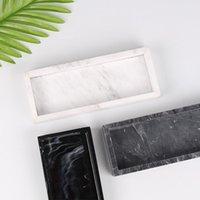Kitchen Storage & Organization Marbled Towel Hand Sanitizer Bottle Tray Resin Jewelry Display Plate Cosmetic Organizer Home El Bathroom Serv
