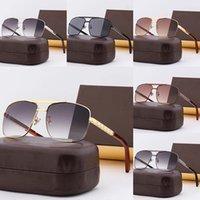 5A Gafas de sol de gama alta para hombre Diseñador para mujer Gafas de sol UV 400 para hombre brillante Hombres Mujeres Amantes de la moda All-Match Naranja Polarizadas Luz Gafas de sol con caja L753-01
