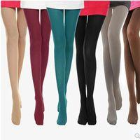 Venta al por mayor Medias de terciopelo Velvet Moda Tendencia Candy Colors Pantyhose Socks Designer Femenino Nuevo Colores Leggings Anti-gancho Medias de seda