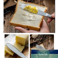 Couteau au beurre de beurre d'acier inoxydable multifonction Épandes de chou fromage Cross Creams Couverts de cuve dessert Toast pour l'outil de petit-déjeuner