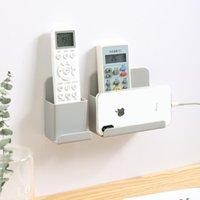 Cell Phone Mounts & Holders Multi-function Wall Mounted Mobile Holder Charger Cable Organizer Remote Control Storage Box