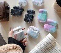 Luxury Silicone Earphone Case For Air pods 2 1 3 pro Marble Pattern Cases For Apple Air pods Shockproof For Air pods Cover