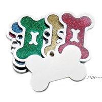 Newbone Dog Tag Pet Collar Pingente Liga de Zinco Colar Diy Laser Laser Pets Pets Informação em branco Tags EWB6153
