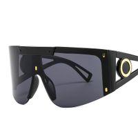 2021 rüzgar geçirmez ve kum geçirmez ayna güneş gözlüğü büyük çerçeve tek parça spor gözlük 2088 kişilik maskesi Avrupa Amerikan moda usta ddesigner