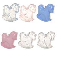 선물 랩 6pcs 만화 동물 사탕 저장 상자 홀더 플라스틱 사랑스러운 흔들 목마 모양 컨테이너 (무작위 색)