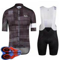 Rapha Pro Team Mens Cycling Jersey Set Set manica corta Maillot Bib Pantaloncini Kit MTB Abbigliamento Bike Summer Traspirante Bicycle Uniform Sports Wear Sports Ropa Ciclismo S21031621