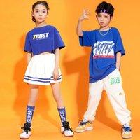 Vêtements Ensembles Fashion Kids Gymnastiques Cheerleading Costumes Costumes Garçon Filles Scole Uniformes Sports Réunion Vêtements Enfants Hip Hop Jazz Dancewea