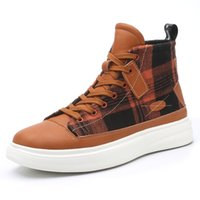 SUPZ Men's Classic Canvas Shoes,Youth Boy Luxury Designer High Quality High-top Non-slip Casual Sport Sneakers , Size EUR39-46