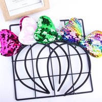 Fashion Sequin Bling Bling Baby Girls Bow Tairspins Shining Glitter Bowknot Hair Hoops Hairband Caphand Accessori per capelli Fascia Capelli Wraps G32H3WW