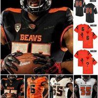 RA NCAA College Jerseys Oregon Estado Beavers 3 Tristan Gebbia 5 Kolby Taylor 2 Conor Blount 18 Timmy Hernandez Futebol Personalizado Costurado