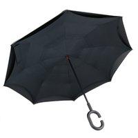 Guarda-chuva invertido da camada dupla anti-rebote com punho em forma de C