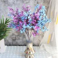 الأبيض الزهور الاصطناعية أزهار الكرز gypsophila النباتات وهمية diy الزفاف باقة المزهريات ل ديكور المنزل فرع عيد الميلاد فو DWD5254