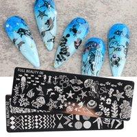 Klistermärken Dekaler 1pc Nail Art Stamping Plate Sommar Animal Undervattensvärld Love Stencil För Nails Transfer Stamp Template Manicure Tool