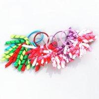 Accesorios para el cabello 20 unids rizado / korker arcos Pequeño-lindo-colorido-Children-Girls-Curly-Ribbon-Hair-Bow1