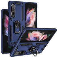 Military Shockproof Phone Cases For Samsung Galaxy Z Fold 3 5G Flip iphone 13 Pro Max Armor Ring Holder Protective Shell