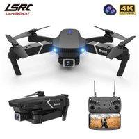 Uav جديد e525 e525Pro الطائرة 4 كيلو 1080 وعاء hd زاوية واسعة كاميرا مزدوجة wifi fpv تحديد المواقع الطوي rc هليكوبتر dron لعبة هدية q0602
