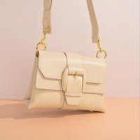 Fashion Trend Bag New 2021 Crossbar Shoulder Bag Leisure Portable Leather Womens Bag Small Square Senkey Style Flap Single