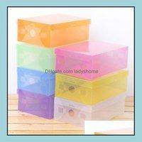 Boxes Bins Housekee Organization & Garden Mtifunction Transparent Plastic Shoe Boot Box Shoebox Der Storage Shoes Cabinet Rack Home Organize