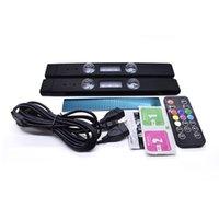 2pcs LED Atmosphère étoilée Lumière USB Wireless Car sans fil Ambient Lights RGB Multicolor Star Lighting Kit d'éclairage pour la chambre de fête Camping Voyage KTV