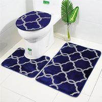 Tapetes de banho 3 em 1 lanterna Pattern Bathroom Tapete Set Antiskid Washroom Tapete Contorno Tapete Toalete Tampa Tampa Tampa