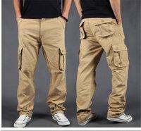 Men's Pants Side Zipper Pockets Cargo Harem Joggers Men 2021 Tactical Casual Harajuku Streetwear Sweatpant Trousers Male Baggy
